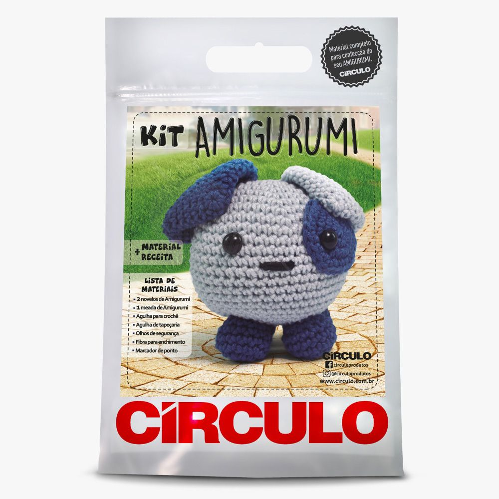 Kit Amigurumi Cachorrinho - Círculo