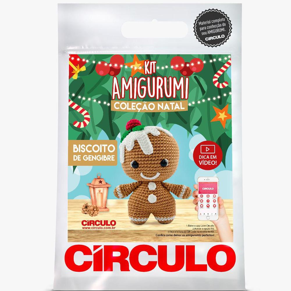 Kit Amigurumi Natal Círculo Biscoito de Gengibre 2021