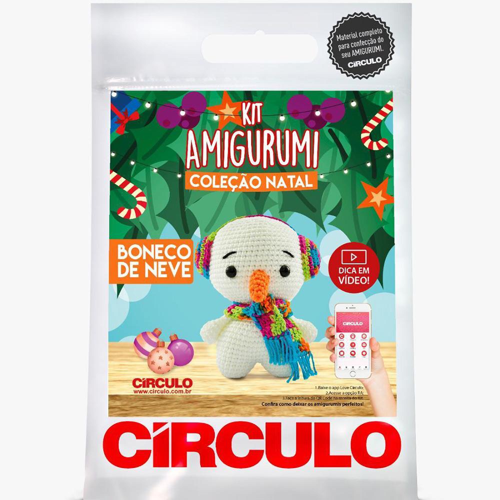 Kit Amigurumi Natal Círculo Boneco de Neve 2021