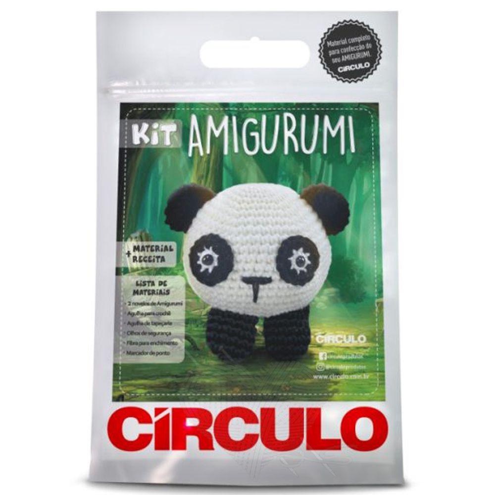 Kit Amigurumi Panda - Círculo  - Bastex Artesanatos