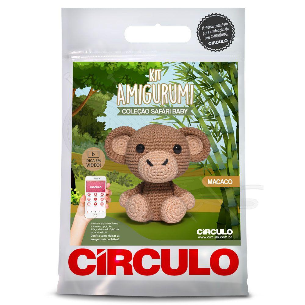 Kit Amigurumi Safári Macaco Baby - Círculo