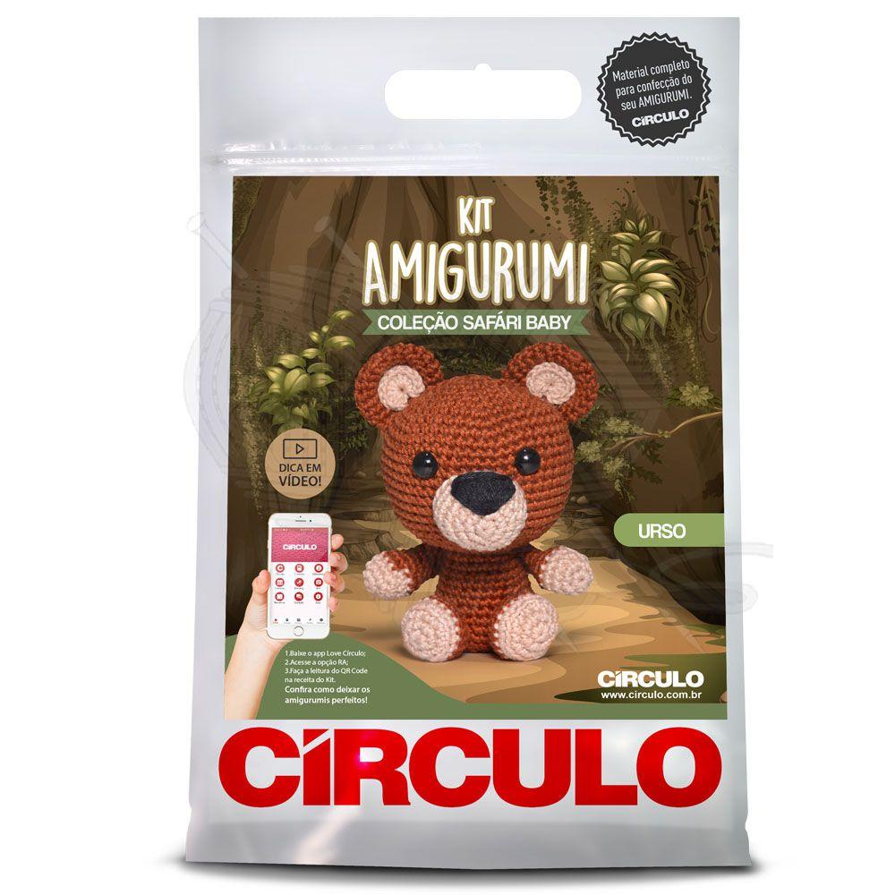 Kit Amigurumi Safári Urso Baby - Círculo