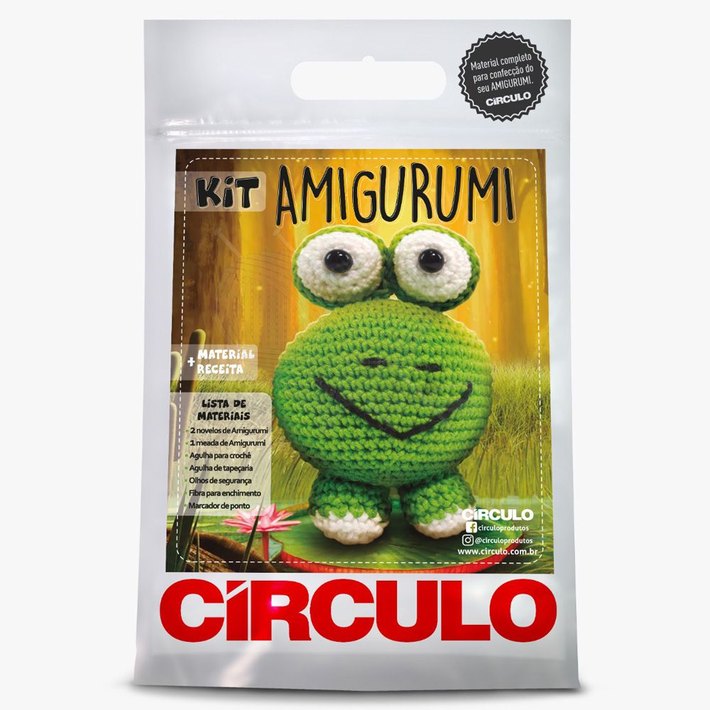 Kit Amigurumi Sapinho - Círculo