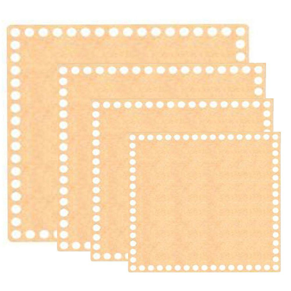 Kit Base de MDF para Crochê Quadrada 4 Peças
