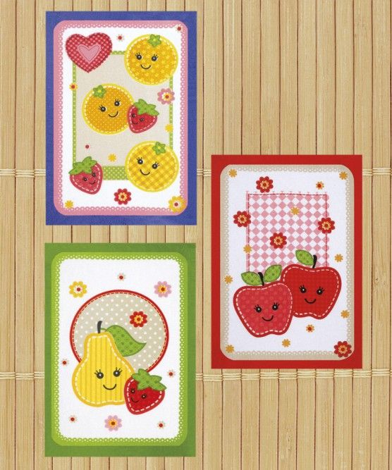 Kit Com 3 Panos De Prato Felpudo Dohler Fruits Fun  - Bastex Artesanatos