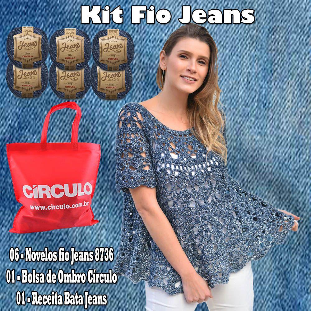 Kit Fio Jeans Círculo 6 Novelos Cor 8736