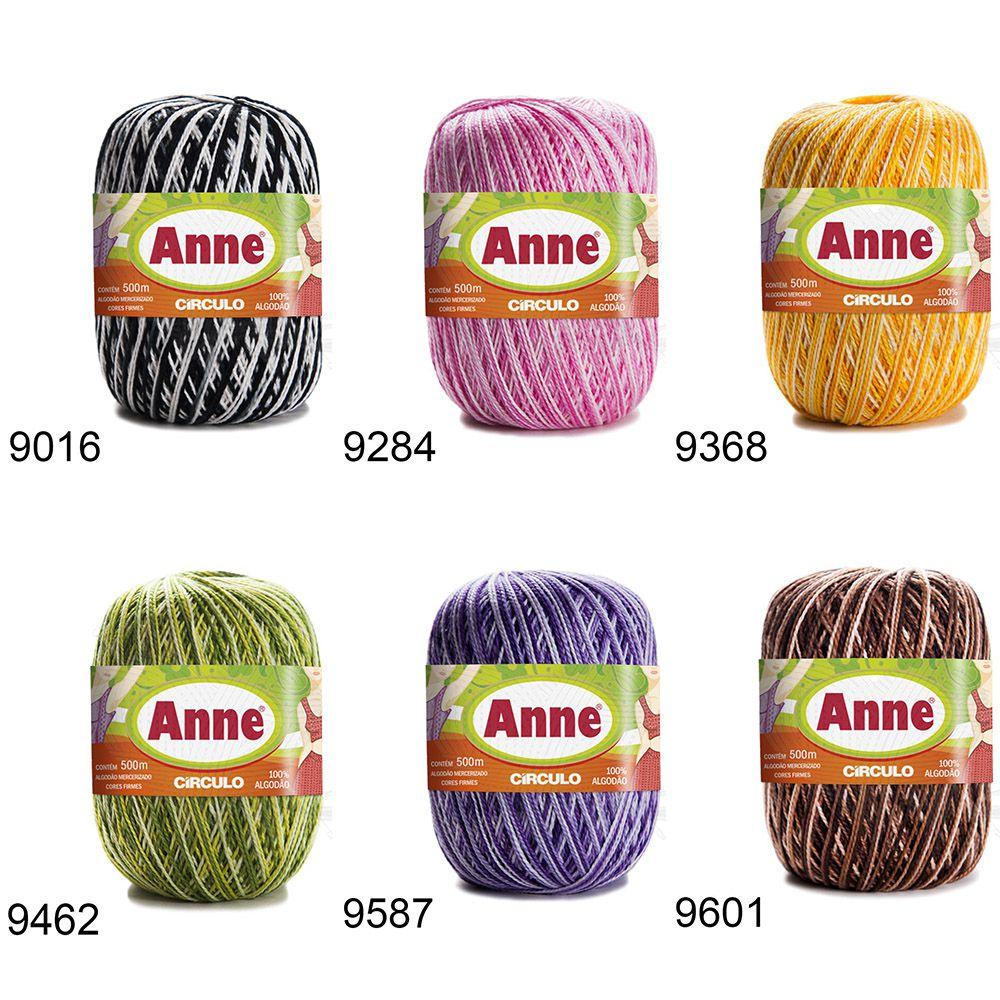 Kit Linha Anne 500 Círculo 147g - 6 Novelos