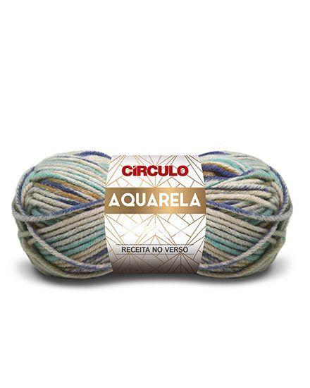 Lã Aquarela Círculo 100g  - Bastex Artesanatos