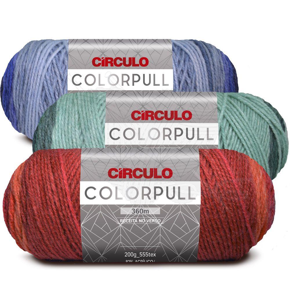 Lã ColorPull Círculo 200g  - Bastex Artesanatos