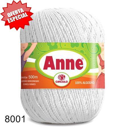 Linha Anne 500 Círculo Branca 147g  - Bastex Artesanatos