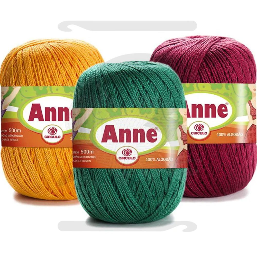 Linha Anne 500 Círculo Cores Lisas 147g