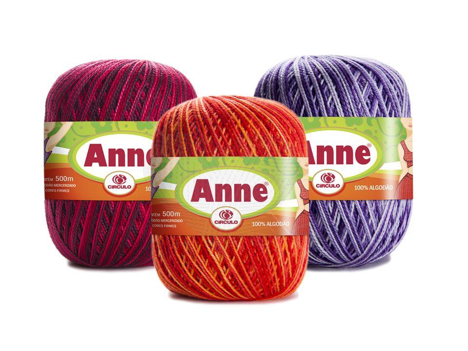 Linha Anne 500 Círculo Multicolor 147g  - Bastex Artesanatos