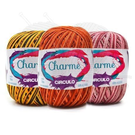 Linha Charme Círculo Multicolor 150g  - Bastex Artesanatos