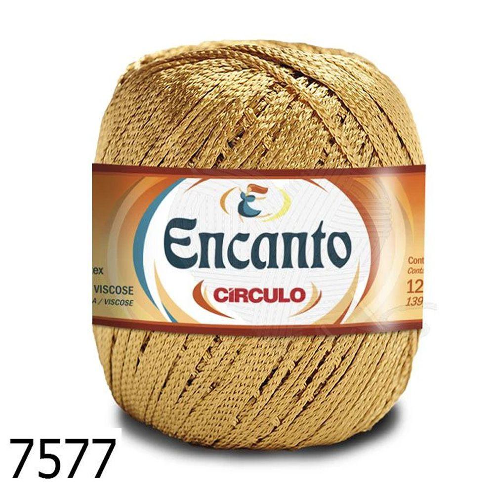 Fio Encanto Círculo 100g - Cor 7577 - Ouro