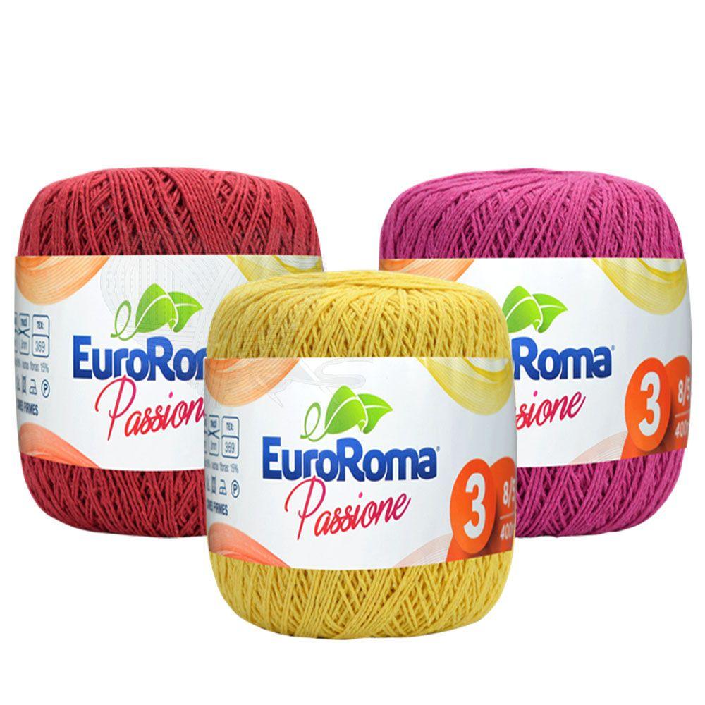 Linha EuroRoma Passione Nº3 150g  - Bastex Artesanatos
