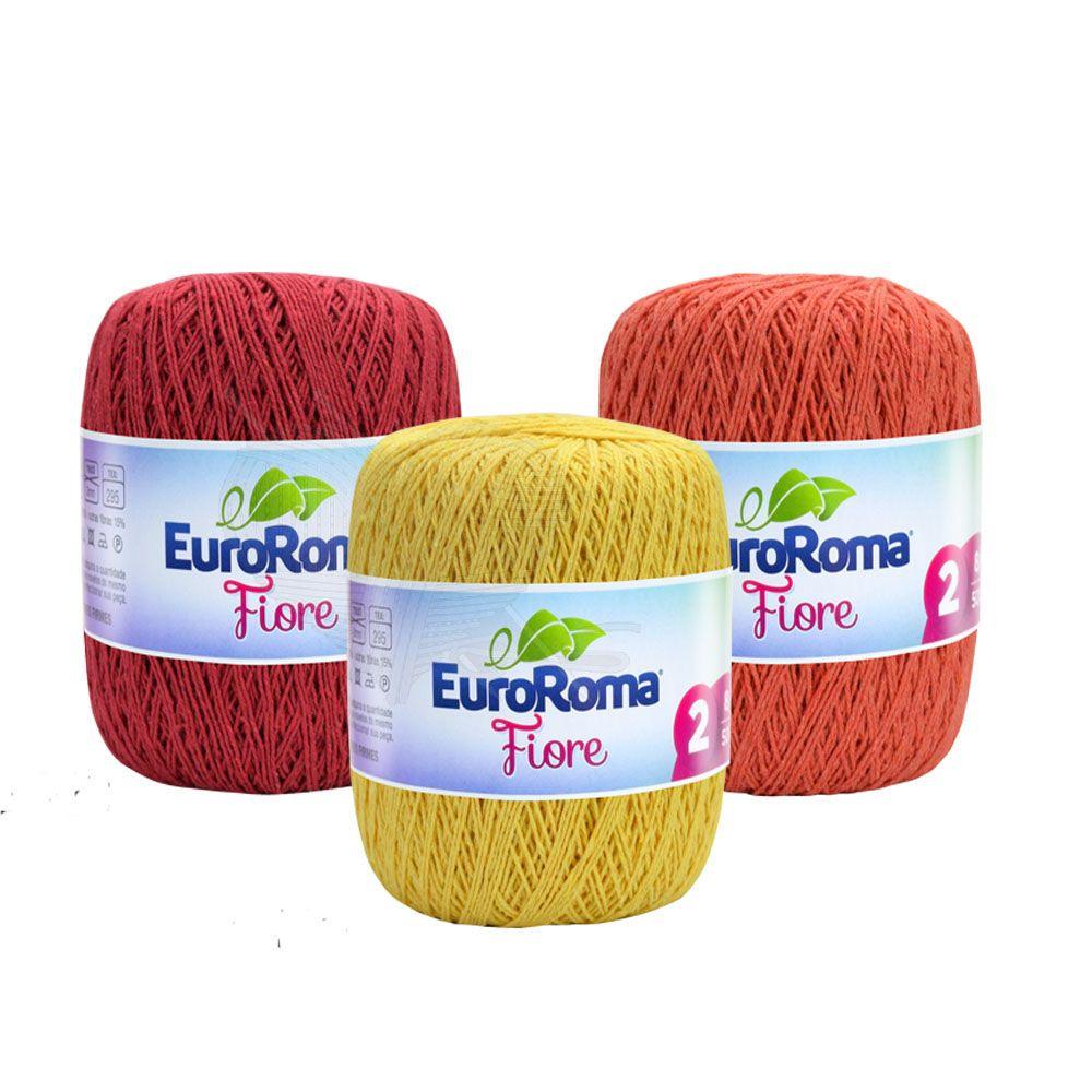 Linha Fiore EuroRoma 8/4 Cores 150g  - Bastex Artesanatos