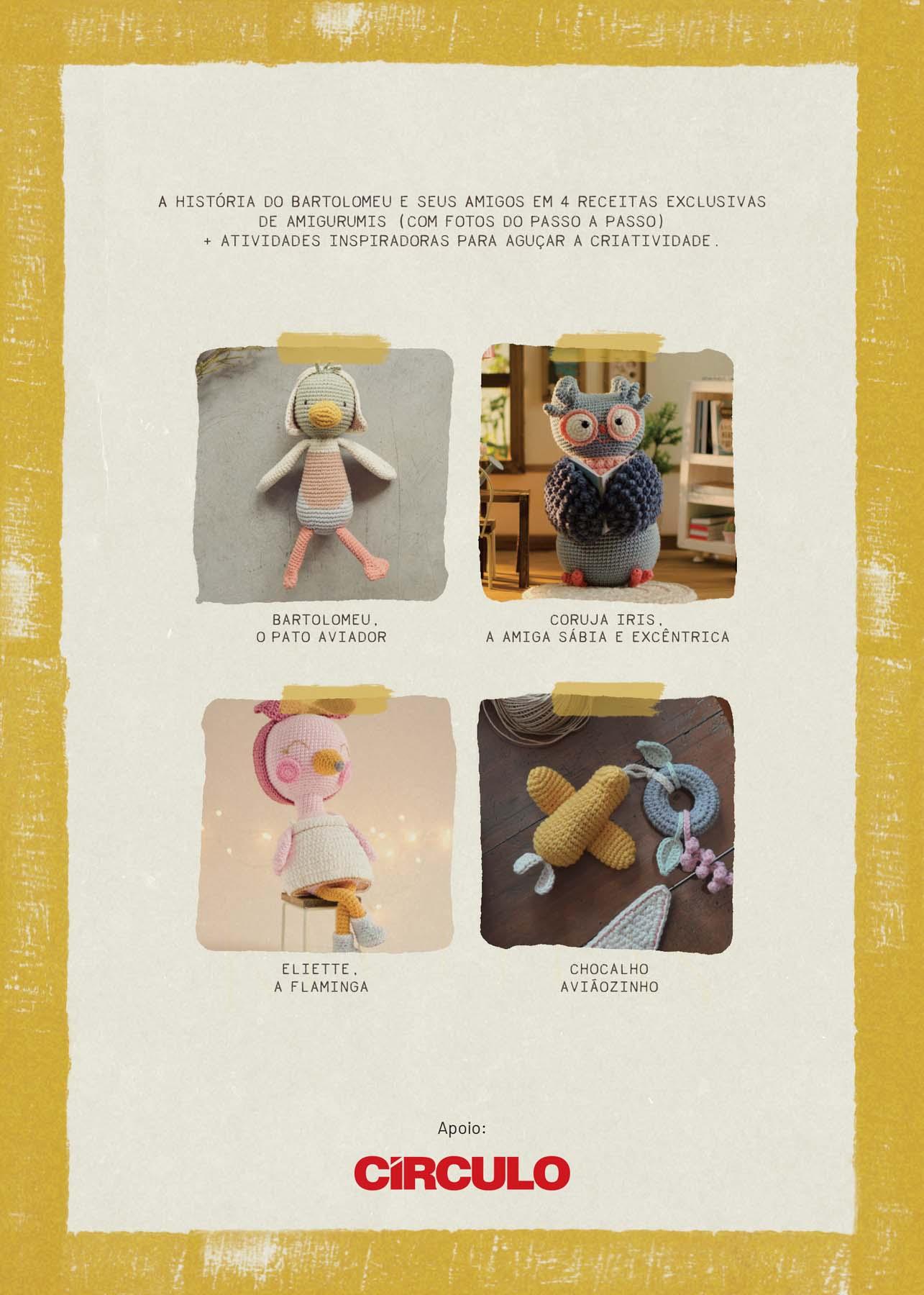 Livro Incrível Caderno de Receitas do Yarn e Co Amigurumis