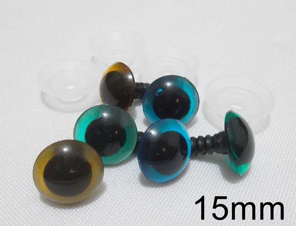 Olho Redondo com Trava de Segurança 15mm - 5 Pares