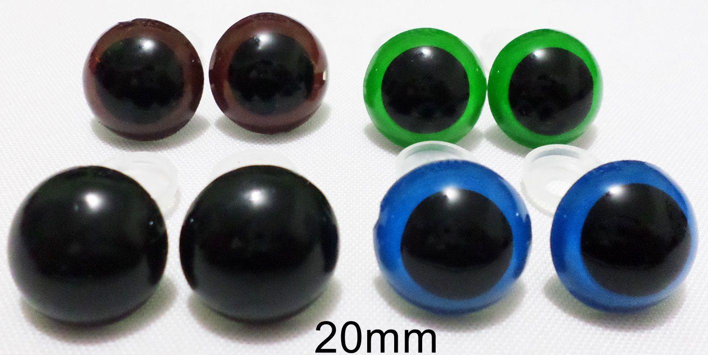 Olho Redondo com Trava de Segurança 20mm - 5 Pares