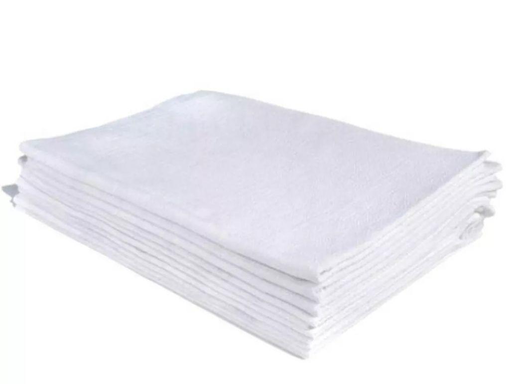 Pano de Prato Branco com Bainha 41x 66cm - O Legítimo  - Bastex Artesanatos
