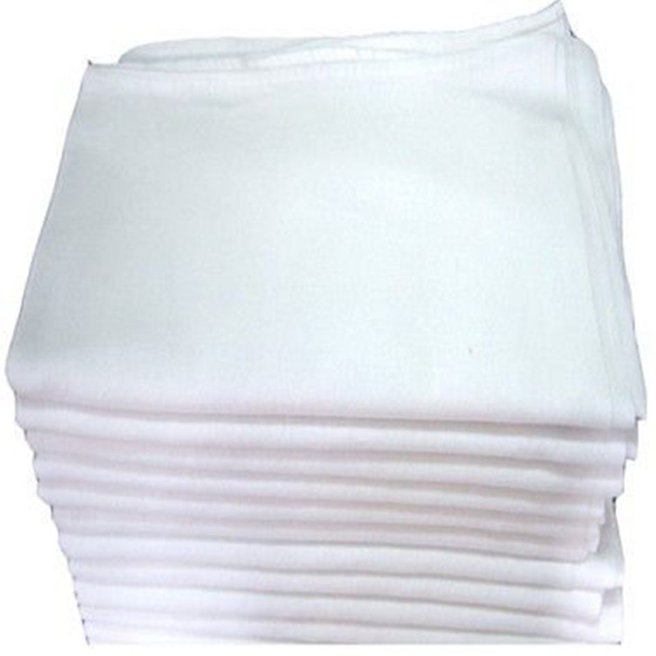 Pano de Prato com Bainha Liso 100% Algodão 45x72cm  - Bastex Artesanatos