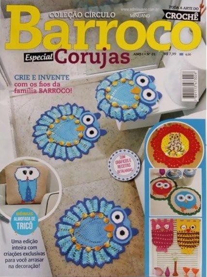 Revista Circulo Barroco Especial Corujas  - Bastex Artesanatos