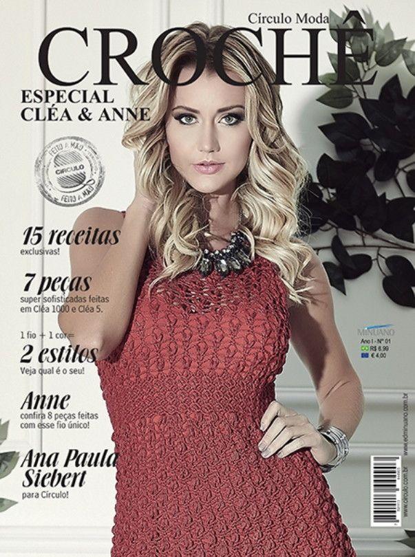 Revista Círculo Moda Crochê N° 1  - Bastex Artesanatos