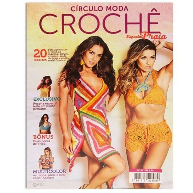 Revista Círculo Moda Crochê Praia N° 8  - Bastex Artesanatos