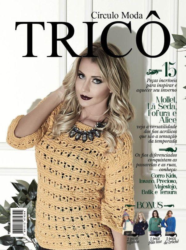 Revista Circulo Moda Tricô N° 3  - Bastex Artesanatos
