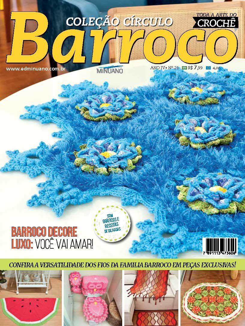 Revista Coleção Circulo Barroco N° 21  - Bastex Artesanatos
