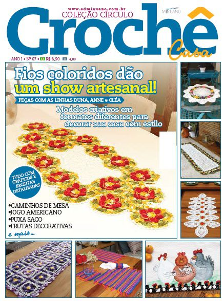 Revista Decoração Crochê Casa Círculo N°7
