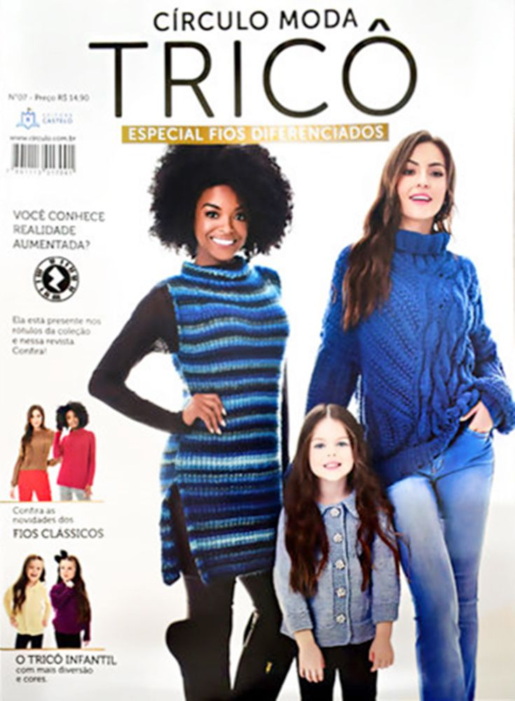 Revista Moda Tricô Círculo N° 7  - Bastex Artesanatos