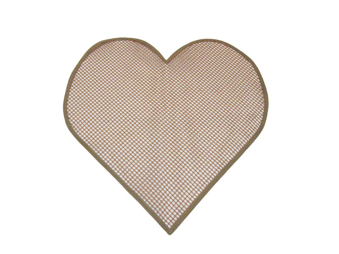 Tela Antiderrapante para Amarradinho Coração  - Bastex Artesanatos