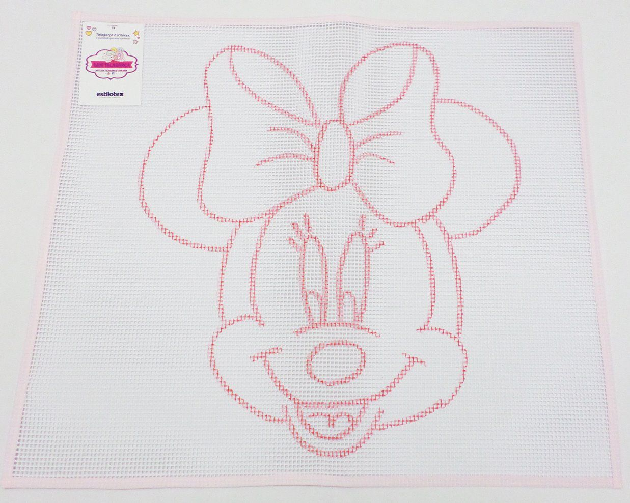 Tela Talagarça Desenhada Minnie - 0,60 x 0,70cm