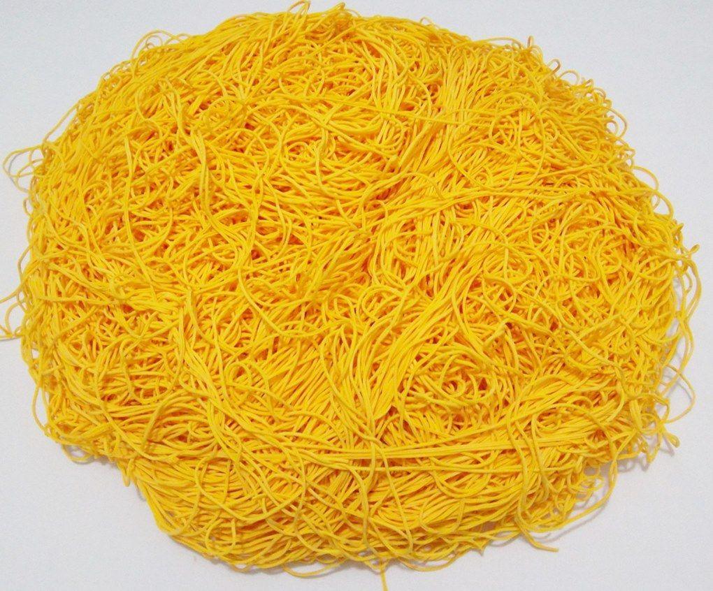 Tira de Macarrão/Espaguete 1.020g Amarelo Ouro  - Bastex Artesanatos