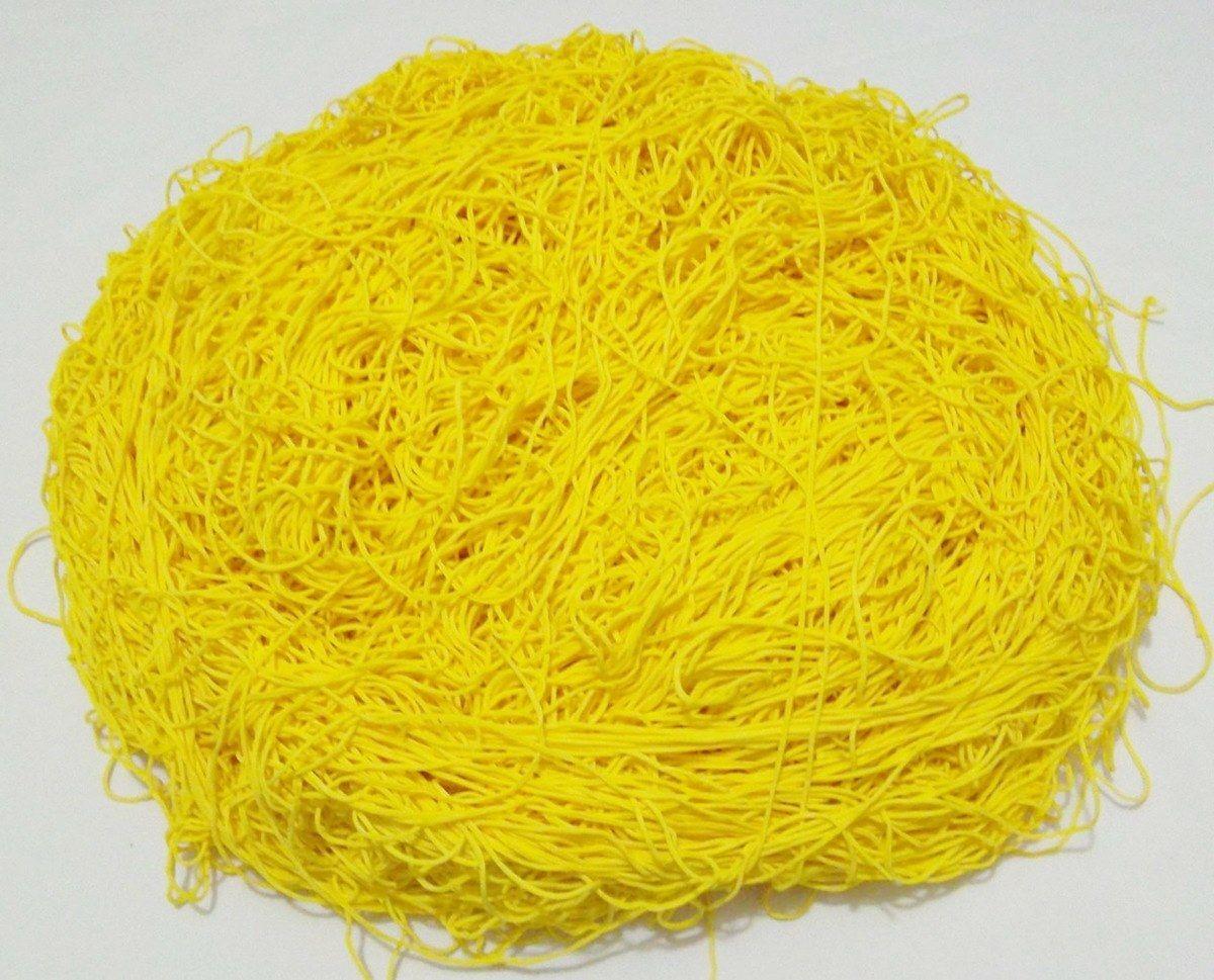 Tira de Macarrão/Espaguete 1.080g Amarelo  - Bastex Artesanatos