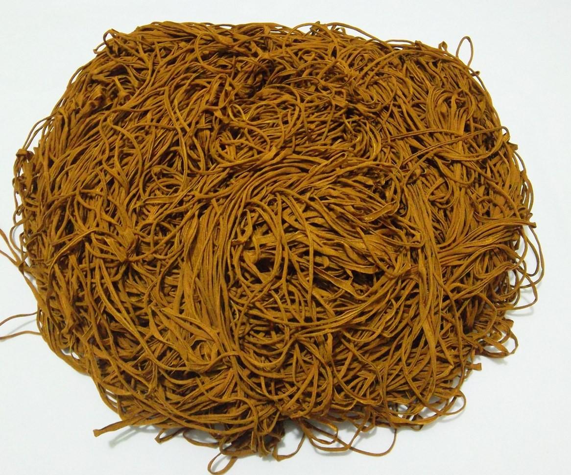 Tira de Macarrão/Espaguete 1.100g Mostarda  - Bastex Artesanatos