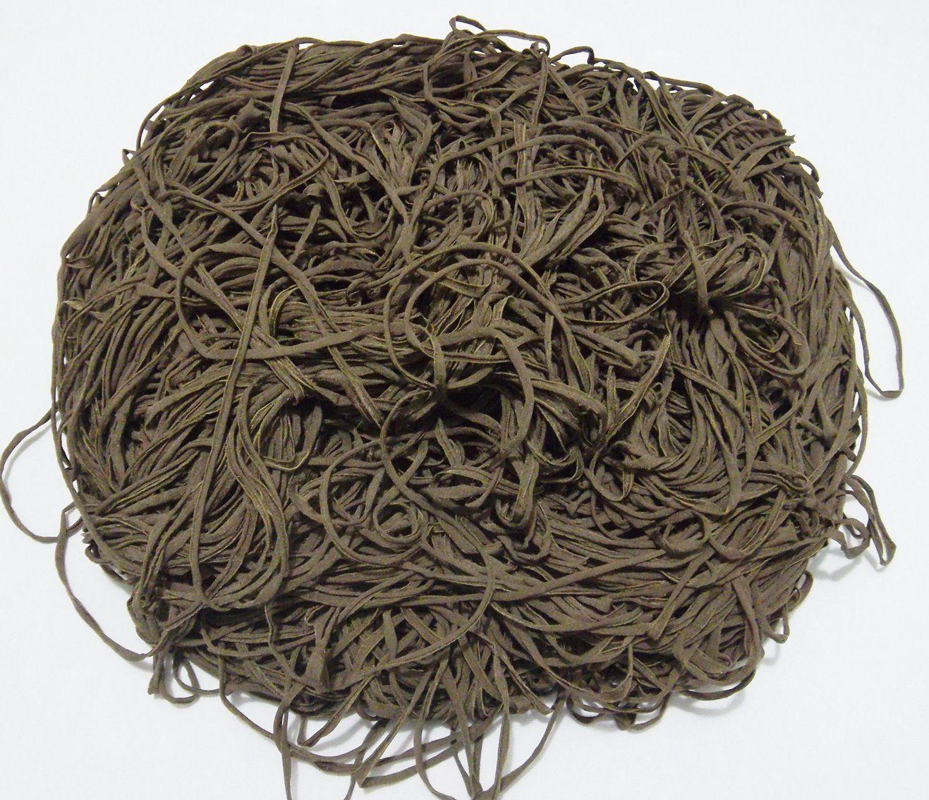 Tira de Macarrão/Espaguete 1.120g Marrom  - Bastex Artesanatos
