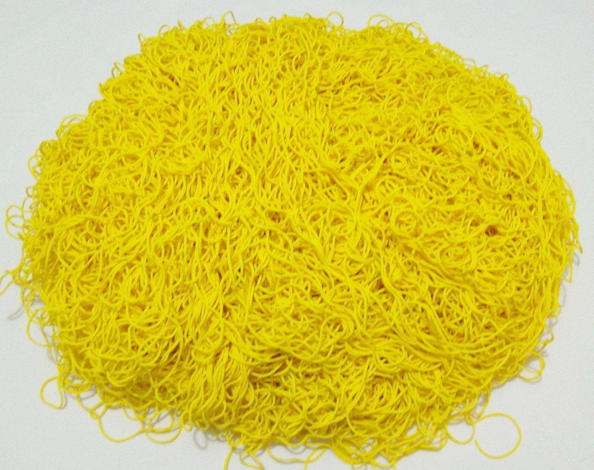 Tira de Macarrão/Espaguete 1.160g Amarelo  - Bastex Artesanatos