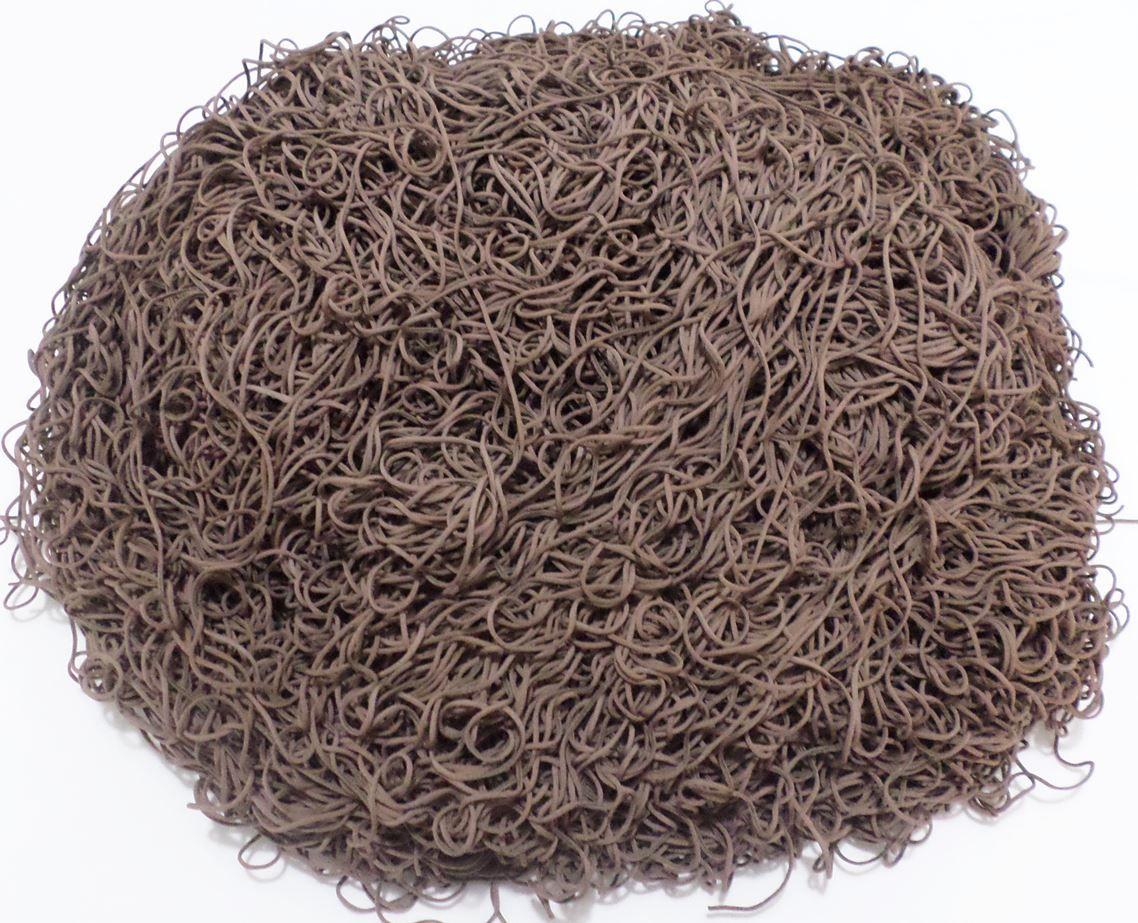 Tira de Macarrão/Espaguete 1.180g Marrom  - Bastex Artesanatos