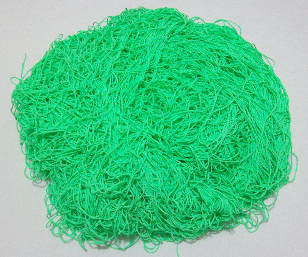 Tira de Macarrão/Espaguete 1kg Verde  - Bastex Artesanatos