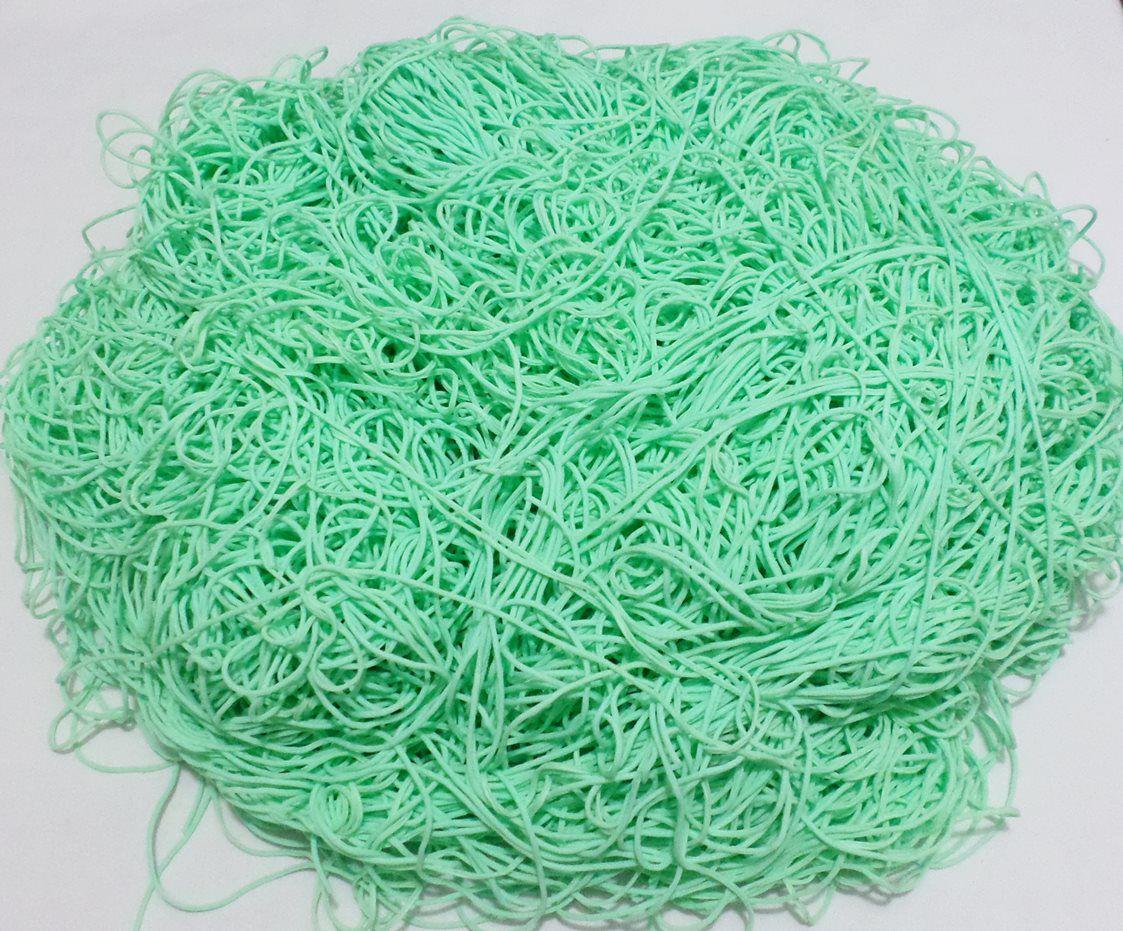 Tira de Macarrão/Espaguete 1kg Verde Água Claro  - Bastex Artesanatos