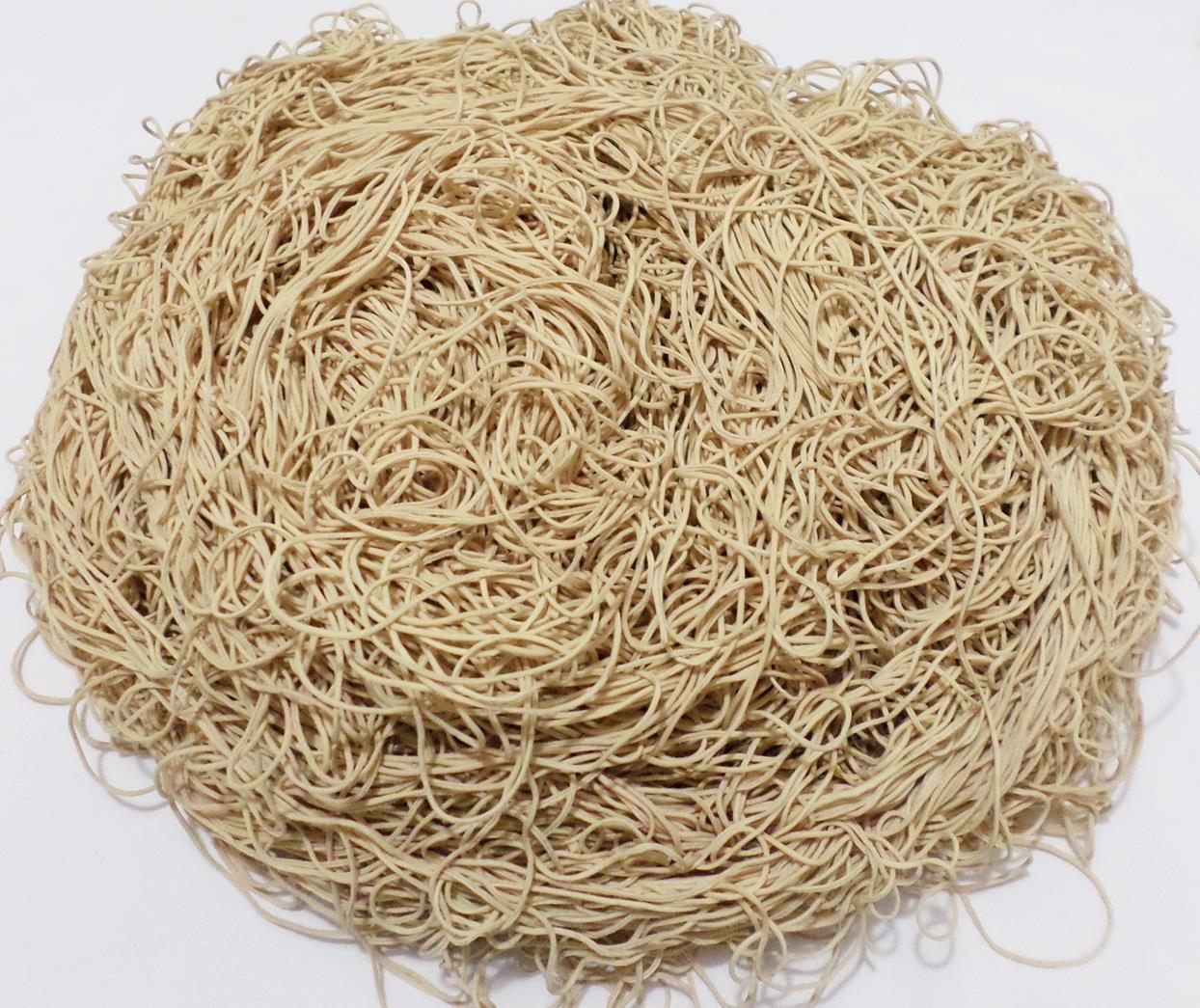 Tira de Macarrão/Espaguete 900g Bege  - Bastex Artesanatos