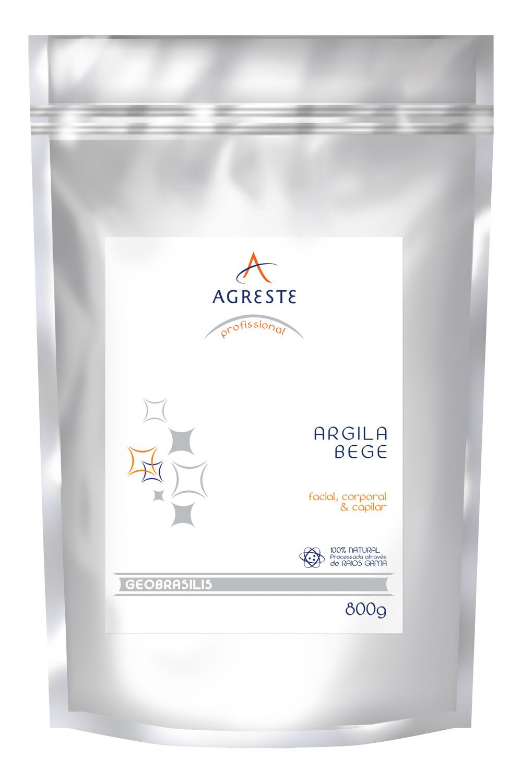 Argila Bege Agreste - 800 g  - Agreste Brasil - Cosmética Profissional