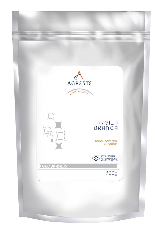 Argila Branca Agreste - 600 g   - Agreste Brasil - Cosmética Profissional