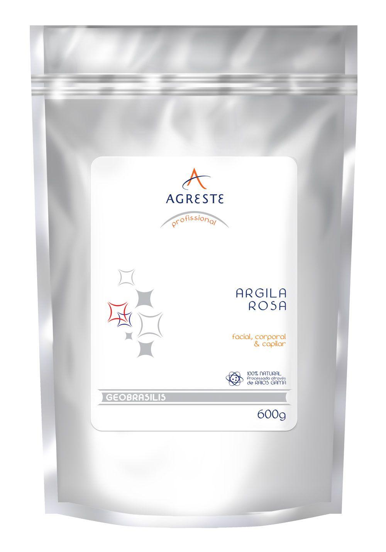 Argila Rosa Agreste - 600 g   - Agreste Brasil - Cosmética Profissional