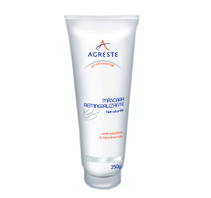 Máscara Remineralizante Hidratante - 250 g  - Agreste Brasil - Cosmética Profissional