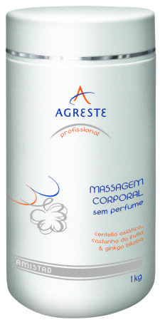 Massagem Corporal sem Perfume AMISTAD - 1 kg  - Agreste Brasil - Cosmética Profissional