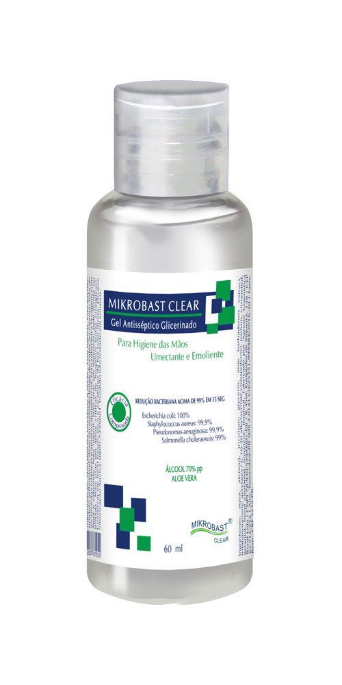 Mikrobast Clear Gel Antisséptico Agreste - 60ML  - Agreste Brasil - Cosmética Profissional