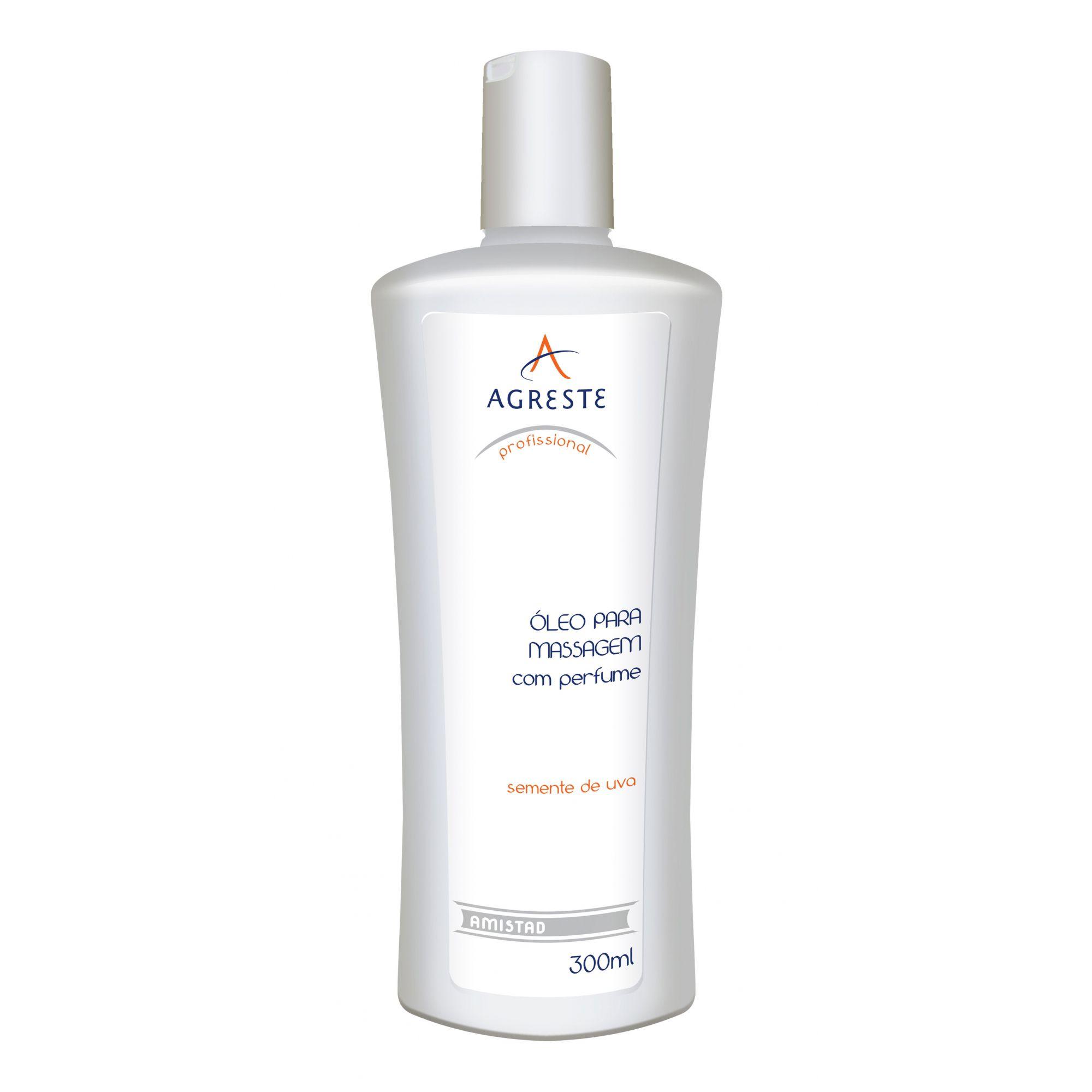 Óleo para Massagem com Semente de Uva Perfumado - 300ml  - Agreste Brasil - Cosmética Profissional